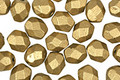 Czech Fire Polished Glass Matte Metallic Aztec Gold Round 6mm