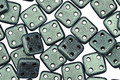 CzechMates Glass Metallic Suede Light Green 4-Hole Square QuadraTile 6mm