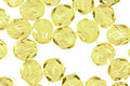Czech Fire Polished Glass Jonquil Round 6mm