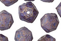 Czech Glass Luster Blue Lavender English Cut Bead 8x10mm