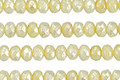 Czech Glass Metallic Yellow Ivory Picasso Fire Polished Rondelle 3x5mm