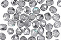 Czech Glass 1/2 Crystal Silvered Aqua Fire Polished Round 4mm