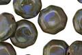 Czech Glass Blue Silk Picasso Octagon 12mm