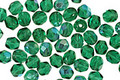 Czech Fire Polished Glass Green Emerald AB Round 4mm