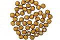 Czech Glass Matte Metallic Antique Gold Fire Polished Round 2mm
