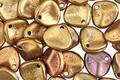 Czech Glass Autumn Metallics Rose Petal 8x7mm