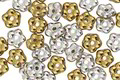 Czech Glass Silver & Gold Bali Style Daisy Spacer 2x5mm