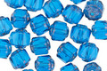 Czech Glass Blue Raspberry Lantern 6mm