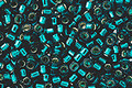 TOHO Aiko Transparent Teal (with silver lining) Precision Cylinder 11/0 Seed Bead