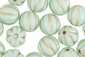 Czech Glass Sweet Mint w/ Gold Melon Round 8mm