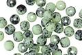 Czech Glass Matte Seafoam Green Dalmation Round Druk 4mm