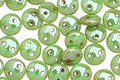 CzechMates Glass Honeydew Luster Picasso 2-Hole Lentil 6mm