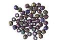 Czech Fire Polished Glass Matte Iris Purple Round 2mm