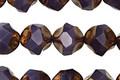 Czech Glass Bronzed Mulberry Chandelier Cut 9mm
