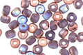 Czech Glass Matte Bronzed Amethyst AB Trica Beads 2.5x4mm