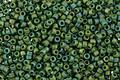 TOHO Semi-Glazed Rainbow Clover Round 15/0 Seed Bead
