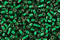 TOHO Aiko Transparent Green Emerald (with silver lining) Precision Cylinder 11/0 Seed Bead