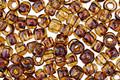 TOHO Transparent Light Amethyst Picasso Hybrid Round 6/0 Seed Bead