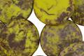 Czech Glass Matte Chartreuse Coin 16mm