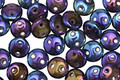 CzechMates Glass Iris Blue 2-Hole Lentil 6mm