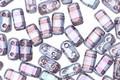 CzechMates Glass Luster Transparent Amethyst 2-Hole Brick 3x6mm