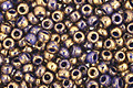 TOHO Gilded Marble Blue Round 11/0 Seed Bead