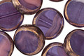 Czech Glass Bronzed Grape Smoothie Coin 13mm