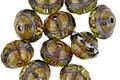 Czech Glass Tanzanite Picasso UFO 7x9mm