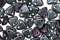CzechMates Glass Polychrome Orchid Aqua 2-Hole Triangle 6mm