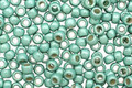 TOHO Permanent Galvanized Frosted Mint Green Round 8/0 Seed Bead