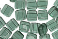 CzechMates Glass Prairie Green 2-Hole Tile 6mm