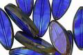 Czech Glass Sky Dive Picasso Horse Eye 18x8mm