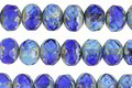 Czech Glass Mediterranean Picasso Fire Polished Rondelle 5x7mm