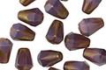 Czech Glass Bronzed Amethyst Faceted Drop 8x6mm