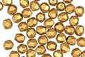 Czech Fire Polished Glass Matte Metallic Goldenrod Round 4mm