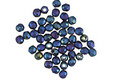 Czech Fire Polished Glass Matte Iris Blue Round 2mm