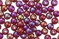 Czech Glass Luster Iris Ruby Round 4mm