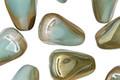 Czech Glass Sea Green w/ Champagne Luster Nugget Drop 12x10mm