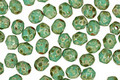 Czech Fire Polished Glass Turquoise Picasso Round 4mm