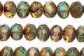Czech Glass Crystal Camo Fire Polished Rondelle 5x7mm