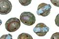 Czech Glass Beach Glass Picasso UFO 8x10mm
