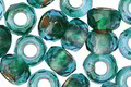 Czech Glass Emerald Bay Large Hole Fire Polished Rondelle 6x9mm