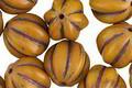 Czech Glass Golden Dandelion Melon Round 12mm