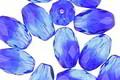 Czech Glass Mykonos Blue Faceted Rice 12x8mm