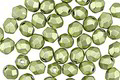 Czech Fire Polished Glass ColorTrends: Saturated Metallic Greenery Round 4mm