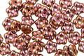 Czech Glass Copper Bali Style Daisy Spacer 2x5mm