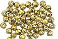 Czech Glass Black Diamond w/ Gold English Cut Round 3mm