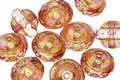 Czech Glass Light Rose w/ Gold Luster UFO 8x10mm