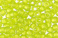 TOHO Sueded Gold Transparent Lime Green Hybrid Round 6/0 Seed Bead