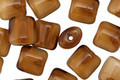 Czech Glass Cinnamon Roll Mix Puff Rectangle 8x7mm